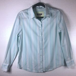 Tommy Bahama Sz 8 Blue Stripped Button Front Shirt